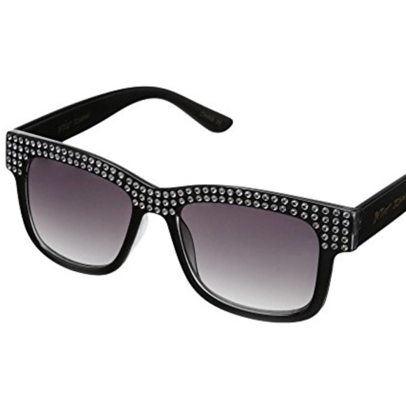 61802b7ef4a4 Betsey Johnson Black Classy Bling Sunglasses
